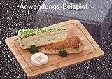 Bambus Käseglocke 25 cm, Kunststoff Haube, Käse Glocke Aufbewahrung Box Brett (LHS)