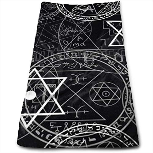 best& Supernatural Symbols Black Multi-Purpose Microfiber Towel Ultra Compact Super Absorbent and Fast Drying Sports Towel Travel Towel Beach Towel Perfect for Camping, Gym, Swimming. - Moen-symbol