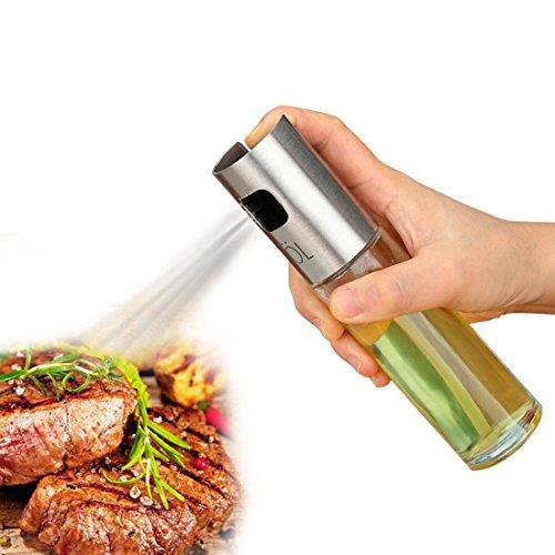 Glas-spray-flaschen (Jiyaru Öl Sprühflasche Kochen Essig Spray Flasche aus Glas und Edelstahl 100ml)