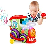 VATOS Baby Toys for 1 2 3 4 Years Old Boys and Girls Toddler Toys with Chasing Balls Light Talking & Music Early Educational Toys with Electric Universal Moving Wheel Train Toy for Kids