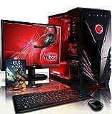 Vibox VBX-PC-8517 Ultra Paket 11L 54,6 cm (21,5 Zoll) Gaming Desktop-PC (AMD A Series A8-7600, 32GB RAM, 1TB HDD, AMD Radeon R7, kein Betriebssystem) rot