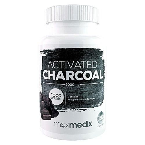 Activated Charcoal – Natürliche Aktivkohle zum Entgiften Und Detox – Reinigt Und Entgiftet Den Körper Effektiv – Unterstützende Wirkung beim Abnehmen Und Für Hellere Zähne Durch Aktivierte Kohle