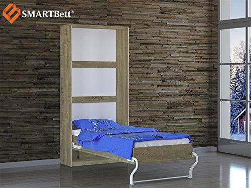 Schrankbett Smartbett Foldaway bed Murphy Bed 90×200 Vertikal in der Farbe Eiche Sonoma - 4