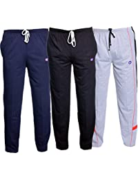Vimal Men's Cotton Track Pants - Pack of 3