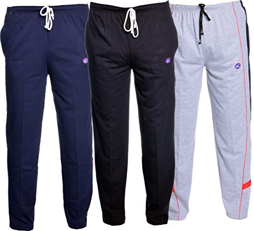 VIMAL Men's Cotton Trackpants (Multicolour, XL) Pack of 3
