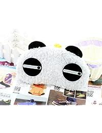Panda Dormir máscara Dormir Gafas con cojín de frío y calor Ojo Máscara con cinta de goma ajustable