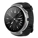 PINCHU LEM7 Smart Watch Android 7.0 Smartwatch LTE 4G Montre Smart Watch T¨¦l¨¦phone Fr¨¦quence Cardiaque 1 Go + 16 Go M¨¦moire avec Cam¨¦ra outil de traduction, Silver