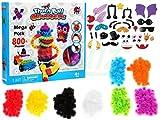 Con questo giocattolo creativo ogni bambino può creare forme incredibili di diverse dimensioni, ad esempio animali, creature, oggetti ecc.  Gli elementi decorativi (cappelli, occhiali da sole, ali, occhi, ecc.) Sono aggiunte artistiche a disegni inus...