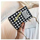 Yvonnezhang Fun Notepad Design Box Style Ricamato Matita Pu Leather Femminile Casual Clutch Chain Purse Borsa a Tracolla Mini Messenger FlapBag, 19x12x5