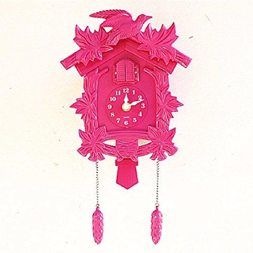 ZHGI Orologio di cuculo europeo orologio da parete creativa di swing, pastorale giardino musica, soggiorno bambini camera orologio a cucù e orologi,A