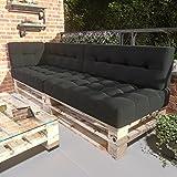 MSS® 5er-Set Relax Palettenkissen Anthrazit dunkel