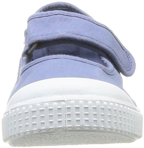 Victoria Mercedes Velcro Lona Tinta, Baskets mode fille Bleu (36 Azul)