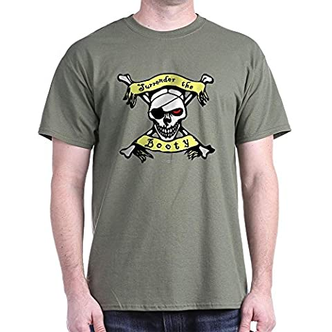 CafePress - Surrender The Booty Dark T-Shirt - 100% Cotton T-Shirt