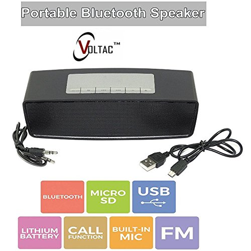 VOLTAC` ™ Hard Case Travel Carry Bag Mini Bluetooth Portable Wireless Speaker  available at amazon for Rs.1285