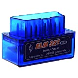 SODIAL(R) blu ELM327 Strumento di diagnostica automatica dell'automobile dell'attrezzo di scansione di ultima versione V2.1 Bluetooth eccellente mini ELM327 OBD2 II per Windows