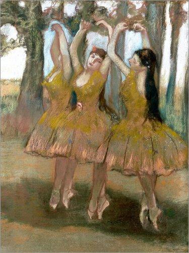 Poster 30 x 40 cm: der Griechische Tanz von Edgar Degas - Hochwertiger Kunstdruck, Kunstposter