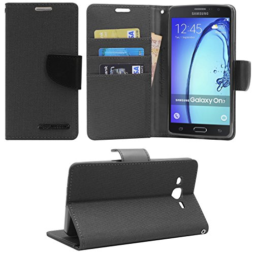 DMG Wallet Case Flip Cover for Samsung Galaxy On7 Pro (Black)