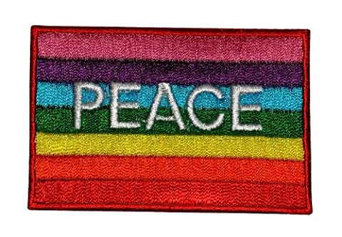 P-06 Peace Hippie Rainbow DIY Embroidered Sew Iron on Patch
