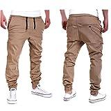 Amlaiworld Pantalones de Chándal de hombres Pantalones de Deporte pantalones jogger casuales para...