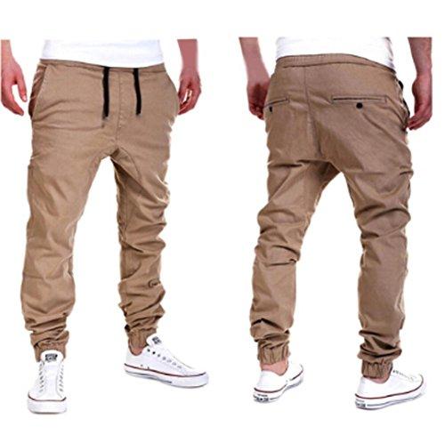 Amlaiworld Pantalones de Chándal de hombres Pantalones de Deporte pantalones jogger casuales...