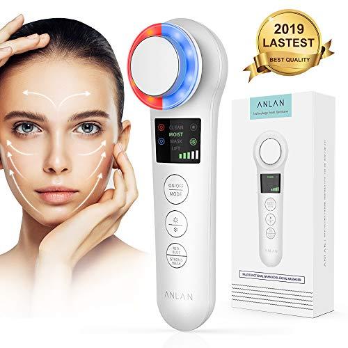 Kosmetisches Ultraschallgerät Faltenentferner Gesichtsmassage Mit ION- Und Photon Funktion Heiße/Kühle Behandlung für Gesichtpflege Anti Falten Anti-aging