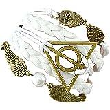 Pulsera Dell 'Amicizia Harry Potter símbolo Triángulo y Owl círculo y idea regalo Ali hombre mujer