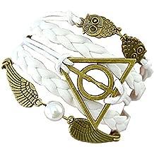 Inception Pro Infinite ♚ Pulseras Harry Potter - Golden Snitch - Death Hallow - Owl - trenzada - Multifilo - TV y Cine Cosplay