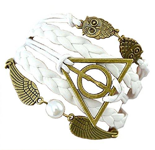 Pulsera Dell 'Amicizia Harry Potter símbolo Triángulo y Owl círculo