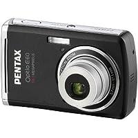 Pentax Optio E60 Digitalkamera (10,1 Megapixel, 3-fach optischer Zoom, 6,1 cm (2,4 Zoll) Display) schwarz