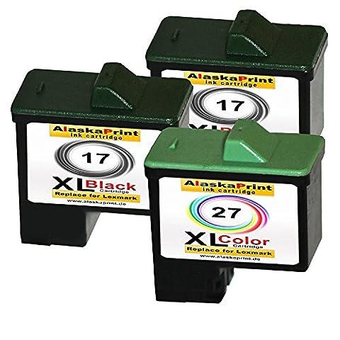 Premium 3er Set Kompatible Druckerpatronen Als Ersatz für Lexmark 17