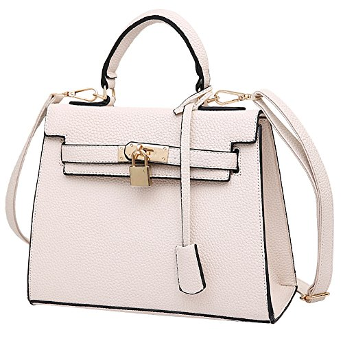 HT shoulder bags for women, Borsa a mano donna Light Grey