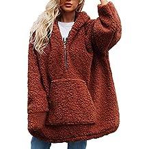 Btruely Herren Chaqueta Suéter para Mujer, Abrigo de Lana Abrigo Jersey Mujer Invierno Talla Grande