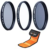 K&F Concept® UV CPL ND4 Filterset,62mm Objektiv Filterset,Filter Canon,Filter Nikon,Filterset 62mm,UV Filter 62mm,Slim UV,CPL Filterset 62mm,Polfilter 62mm,ND4 Filter,Graufilter 62mm mit Reinigungsstift und Filtertasch