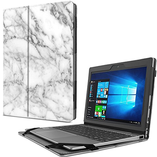 Infiland Lenovo MIIX 320 Hülle Case Slim dünne Schutzhülle Cover Tasche für Lenovo MIIX 320 (mit Auto Schlaf/Wach Funktion, Nicht enthalten Tablet und Tastatur)(Marmor)