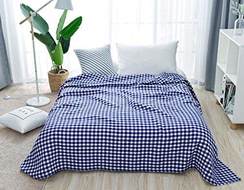 Super Soft Luxuriöse Decke Werfen 3 Schicht Gaze Decke -Max Home ( Farbe : Blau , größe : 200*220cm - Decke Werfen ärmel