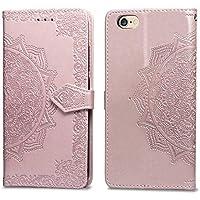 Handyhülle iPhone 6s,Handytasche iPhone 6s,HUDDU Mandala Blumen Flip Leder Tasche iPhone 6 Hülle Wallet Case Kartenfach... preisvergleich bei billige-tabletten.eu