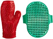 Choostix Combo of Dog Bath Glove & Dog Hand Brush (1 Pi