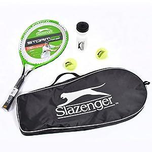 Slazenger Storm 25 Inch Junior Tennis Starter Set With Bag, Balls and Water Bottle Review 2018 from Slazenger
