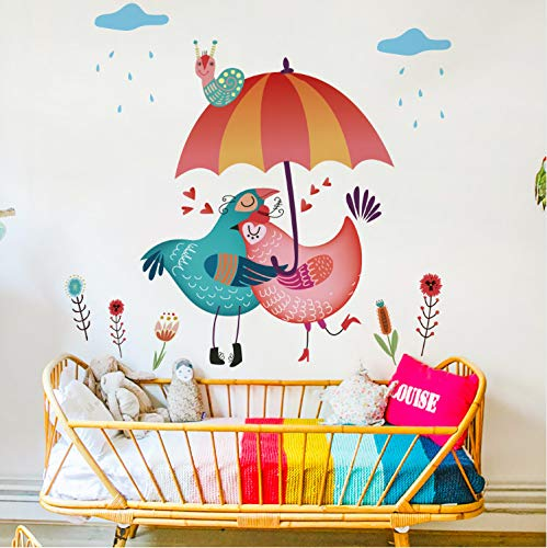 Ytwww123 Adesivi Murali Two Loving Chickens Dicor Brand Cartoon Diy Wall Sticker Creative Fashion Funny Home Decoration For Living Room Wedding Gift