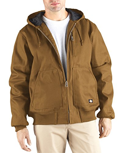 Dickies 10 oz Hooded Duck Jacket Gr. X-Large, Brown Duck (Hooded Brown Jacket Duck)