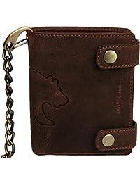 Brown Bear Geldbörse Leder vintage braun Kette BH 0152