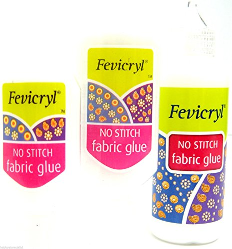 43385f151569 Fabric Glue No Stitch Clear Glue Sequins Glue Diamante Gems Glue Textile  Glue (30ml)