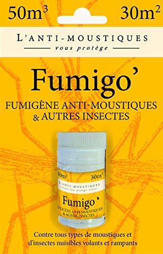 L'Anti Moustique 019-DS-FUM001 Fumigo Fumigène Anti Moustiques Blanc 3 x 3 x 4 cm