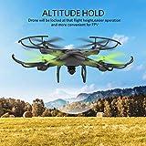 Petrel U42W Drone con Telecamera Quadricottero, 720P HD Wifi Camera, Nero by Udiric