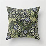 Jack16 William Morris Seaweed Muster Werfen Kissenbezug 45,7 x 45,7 cm