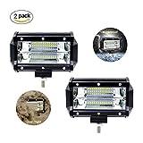 PDR 5 Inch 72 W LED Arbeitsscheinwerfer, Offroad Scheinwerferled LED Scheinwerfer Arbeitsleuchten LED Zusatzscheinwerfer LED AUX Arbeitsleuchte 10800lm IP67 Wasserdicht 6000 K ,2 Stück