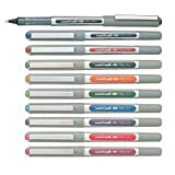 Uni-Ball EYE UB-157 Rollerball Pen Medium 0.7mm Ball [Pack of 10] One of each colour, alle Farben sortiert 10 Stück