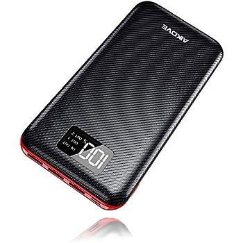 d573508762557 AKEEM Powerbank 24000mAh Externer Akku mit Lighting Micro 2 Eingänge und 3  Ausgänge Power Bank Handy für Smartphones