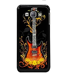 printtech Flaming Guitar Back Case Cover for Samsung Galaxy J1 (2016) :: Samsung Galaxy J1 (2016) Duos with dual-SIM card slots :: Galaxy Express 3 J120A (AT&T); J120H, J120M, J120M, J120T
