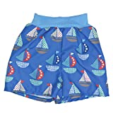 Splash About Baby Happy Nappy Board Shorts Badeshorts, blau - Segel, 6-12 Months (L)